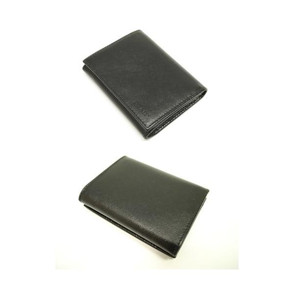 PRADA プラダ サフィアーノレザー カードケース 名刺入れ ブラック メンズ レディース 6893|purishonten|02