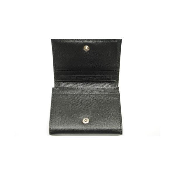 PRADA プラダ サフィアーノレザー カードケース 名刺入れ ブラック メンズ レディース 6893|purishonten|03