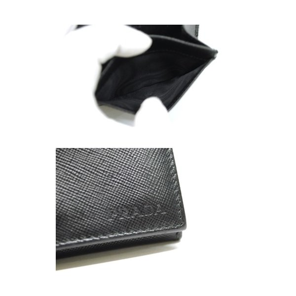 PRADA プラダ サフィアーノレザー カードケース 名刺入れ ブラック メンズ レディース 6893|purishonten|05