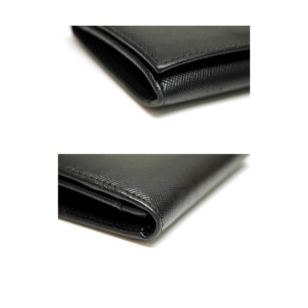 PRADA プラダ サフィアーノレザー カードケース 名刺入れ ブラック メンズ レディース 6893|purishonten|06