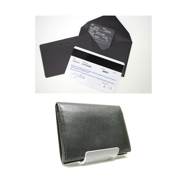 PRADA プラダ サフィアーノレザー カードケース 名刺入れ ブラック メンズ レディース 6893|purishonten|07