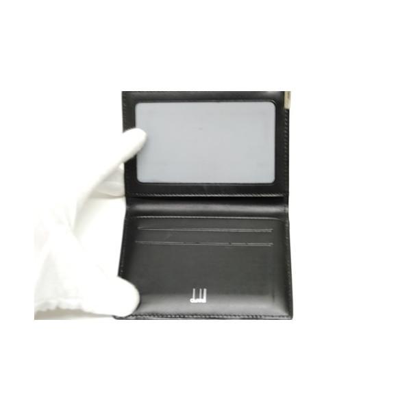dunhill ダンヒル レザー カードケース パスケース 定期入れ ブラック メンズ 6897|purishonten|04