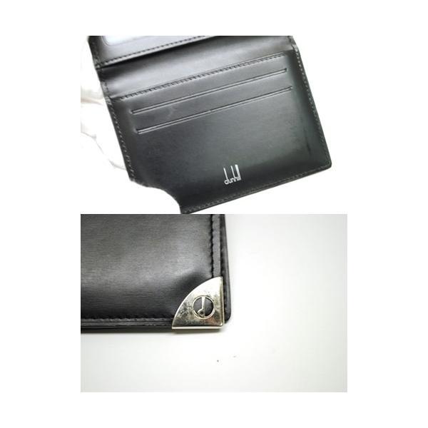 dunhill ダンヒル レザー カードケース パスケース 定期入れ ブラック メンズ 6897|purishonten|05