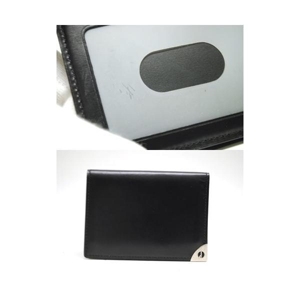 dunhill ダンヒル レザー カードケース パスケース 定期入れ ブラック メンズ 6897|purishonten|07