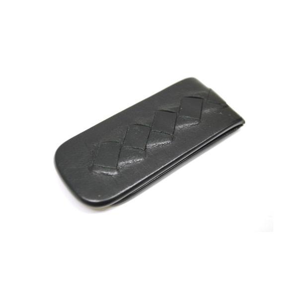 BOTTEGA VENETA ボッテガヴェネタ イントレチャート マネークリップ 小物 財布 メンズ ブラック 6901|purishonten|02