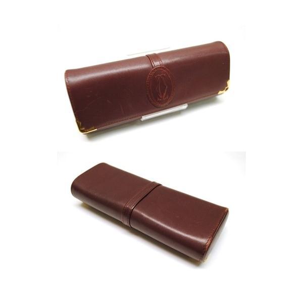 Cartier カルティエ マストライン メガネケース サングラスケース メンズ レディース 6911|purishonten|02