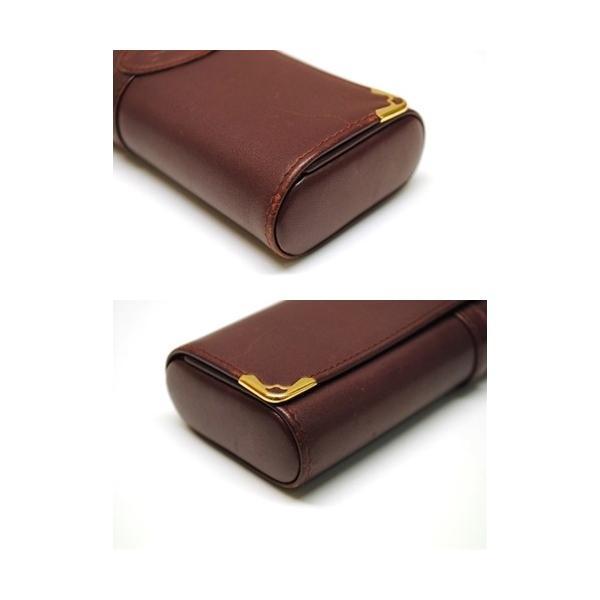 Cartier カルティエ マストライン メガネケース サングラスケース メンズ レディース 6911|purishonten|05
