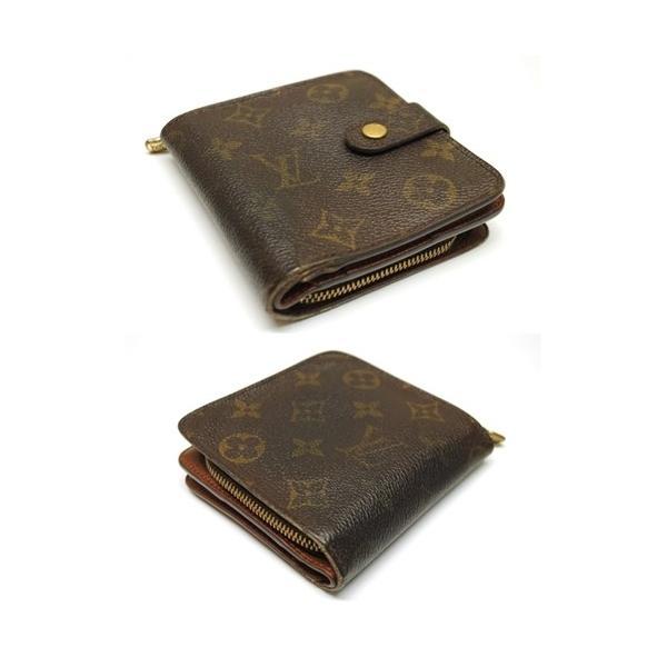 LOUIS VUITTON ルイヴィトン モノグラム コンパクトジップ 二つ折り財布 M61667 レディース メンズ 6912|purishonten|02
