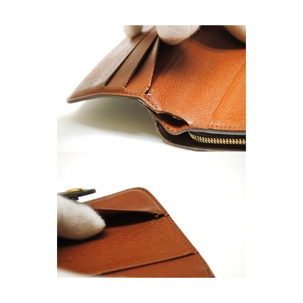 LOUIS VUITTON ルイヴィトン モノグラム コンパクトジップ 二つ折り財布 M61667 レディース メンズ 6912|purishonten|04