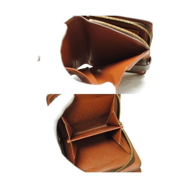 LOUIS VUITTON ルイヴィトン モノグラム コンパクトジップ 二つ折り財布 M61667 レディース メンズ 6912|purishonten|05