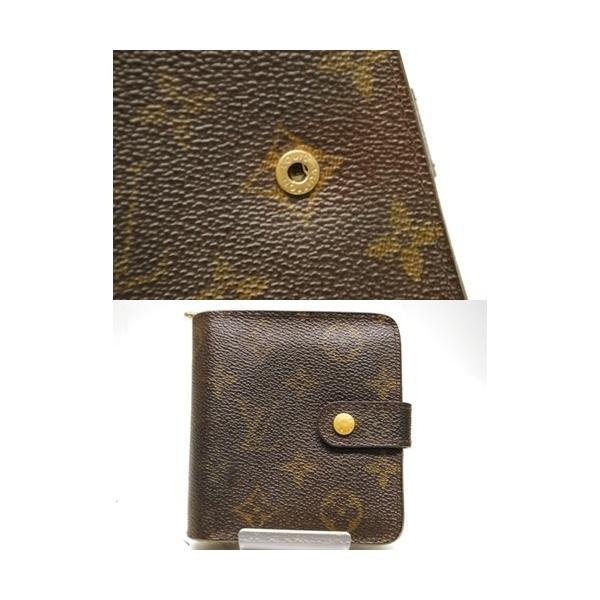 LOUIS VUITTON ルイヴィトン モノグラム コンパクトジップ 二つ折り財布 M61667 レディース メンズ 6912|purishonten|07