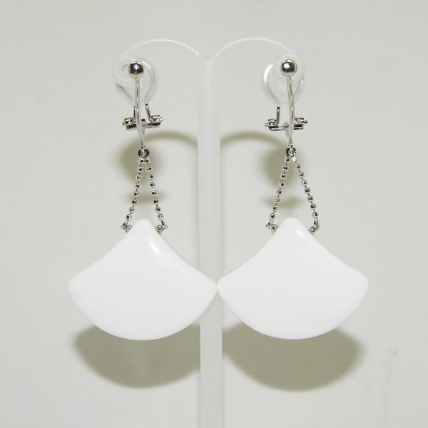 痛くないイヤリング ホワイトオニキス シルバー925 PE0491EA 1012921