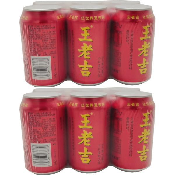王老吉 健康飲料 健康茶 アジアドリンク 涼茶 清涼飲料水 植物飲料 漢方 中華伝統飲料 お買い得 6本入り 1缶310ml 12缶セット