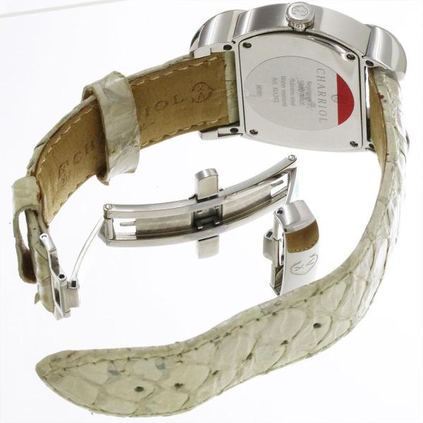 シャリオール CHARRIOL クチャ レディース 腕時計 ホワイトシェル 文字盤 クォーツ ウォッチ