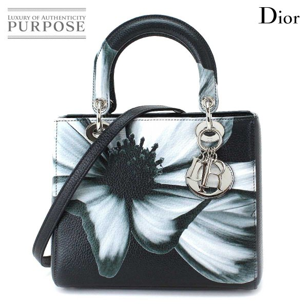 未使用 展示品 クリスチャン ディオール Cristian Dior レディディオール ハンド バッグ 花柄 フラワー M0550PCFB/M911|purpose-inc