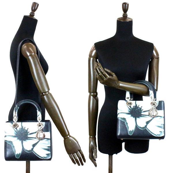 未使用 展示品 クリスチャン ディオール Cristian Dior レディディオール ハンド バッグ 花柄 フラワー M0550PCFB/M911|purpose-inc|03