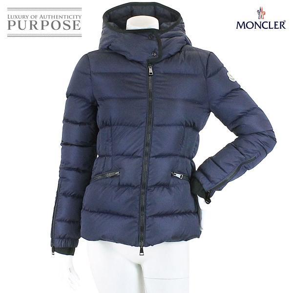 モンクレール MONCLER ダウン ジャケット BETULA ベチュラ 中綿 ワッペン フード付き ネイビー サイズ 0 レディース|purpose-inc