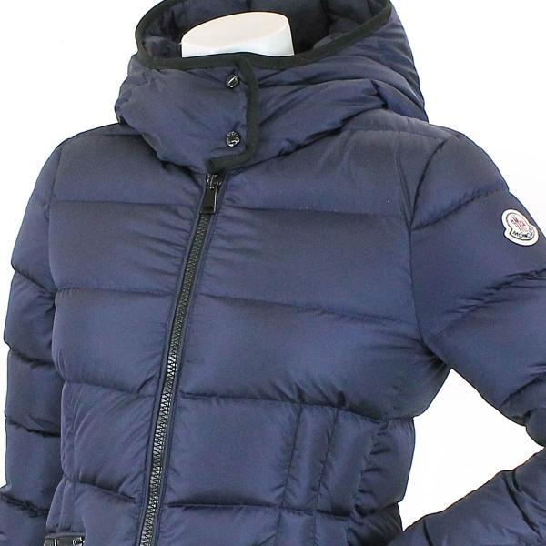 モンクレール MONCLER ダウン ジャケット BETULA ベチュラ 中綿 ワッペン フード付き ネイビー サイズ 0 レディース|purpose-inc|03