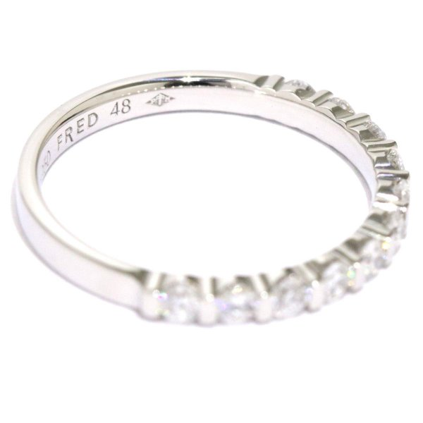 フレッド FRED フォーラブ ダイヤ リング #48 ハーフエタニティ PT950 プラチナ ダイア 指輪