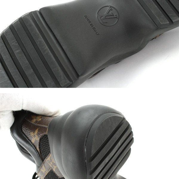ルイ ヴィトン LOUIS VUITTON LVアークライトライン スニーカー モノグラム ブラック 36 1/2 23.0 23.5cm レディース