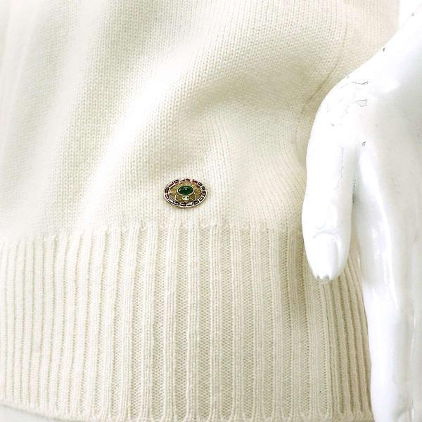 シャネル CHANEL セーター ニット スパンコール マフラー付き 柄 グリーン ホワイト サイズ 34 P44 ランダム レディース|purpose-inc|05