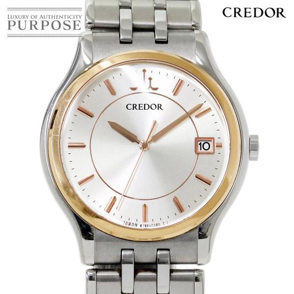 セイコー SEIKO CREDOR クレドール シグノ 創業130周年記念 GCAZ058 メンズ 腕時計 8J86 7A00 デイト クォーツ ウォッチ|purpose-inc