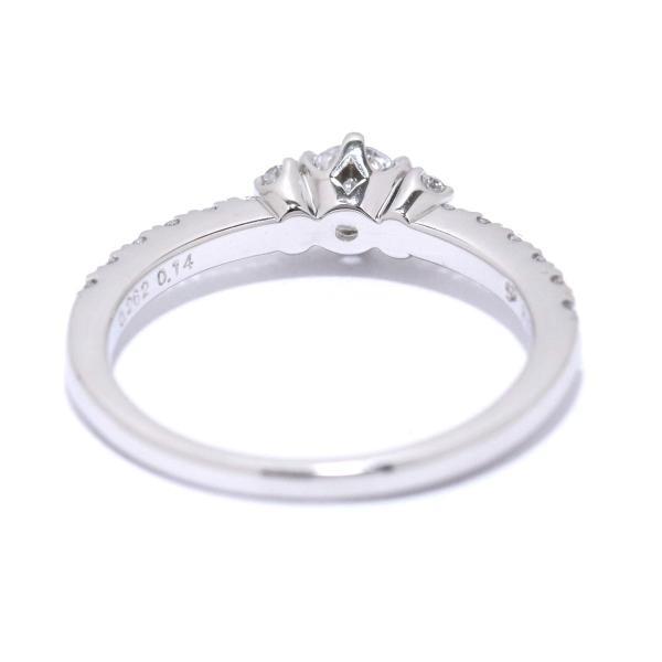 ダイヤ 0.262ct D/SI-1/3EX 0.14ct Pt プラチナ リング 12号 ダイア 指輪 【鑑定書付き】
