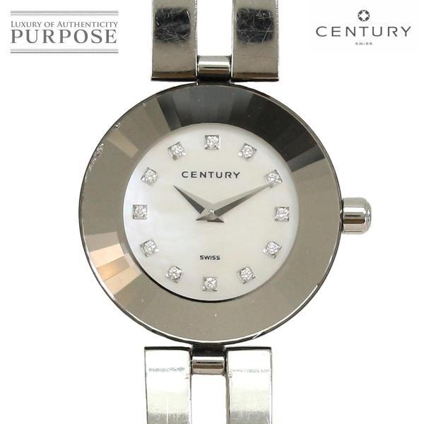 センチュリー CENTURY タイムジェム 12P ダイヤ レディース 腕時計 ホワイトシェル 文字盤 クォーツ ウォッチ