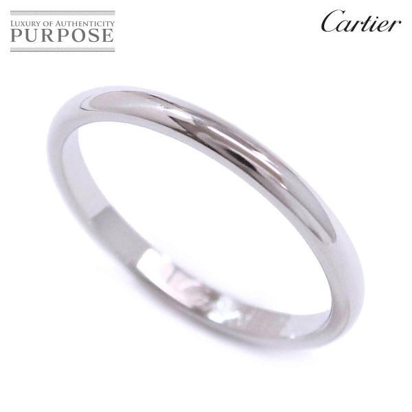 カルティエ Cartier クラシック #52 リング Pt950 幅2mm プラチナ 指輪