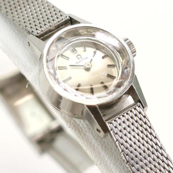 オメガ OMEGA Cal483 レディース 腕時計 手巻き アンティーク ヴィンテージ ウォッチ カットガラス