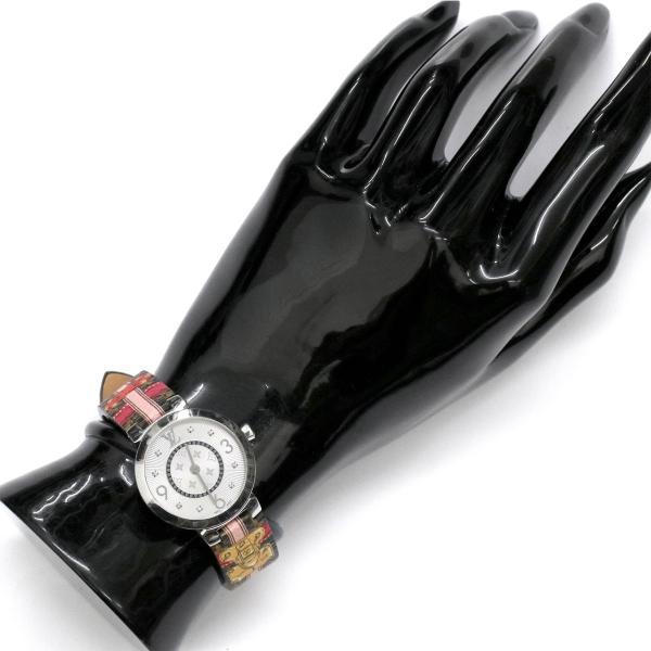 ルイ ヴィトン LOUIS VUITTON タンブール Q12MG レディース 腕時計 8P ダイヤ シルバー 文字盤 モノグラム サマートランク クォーツ ウォッチ