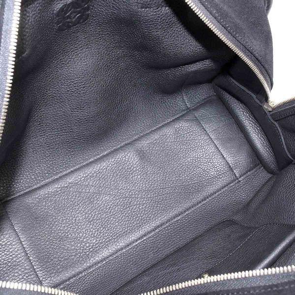ロエベ LOEWE アマソナ 36 ハンド バッグ スエード レザー ブラック ゴールド 金具