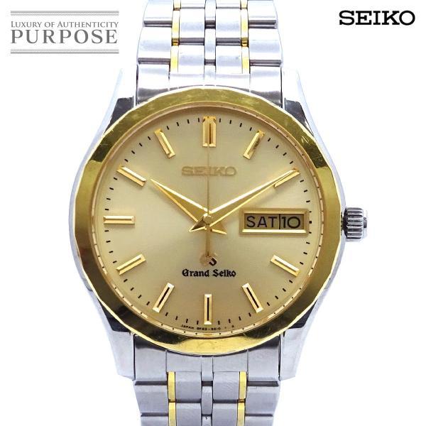 グランドセイコー GRAND SEIKO SBGT004 コンビ メンズ 腕時計 9F83 9A20 デイデイト ゴールド 文字盤 K18YG イエローゴールド クォーツ ウォッチ