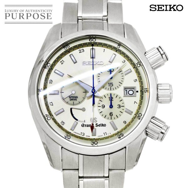 グランドセイコーGRANDSEIKOスプリングドライブクロノグラフSBGC001メンズ腕時計9R860AA0パワーリザーブデイト