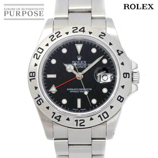 ロレックスROLEXエクスプローラー216570P番メンズ腕時計デイトブラック文字盤オートマ自動巻きウォッチExplorerII