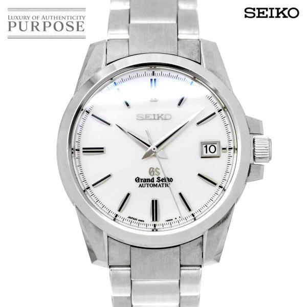 グランドセイコーGRANDSEIKOメカニカルSBGR055メンズ腕時計9S65-00C0デイトホワイト文字盤裏スケルトンオート