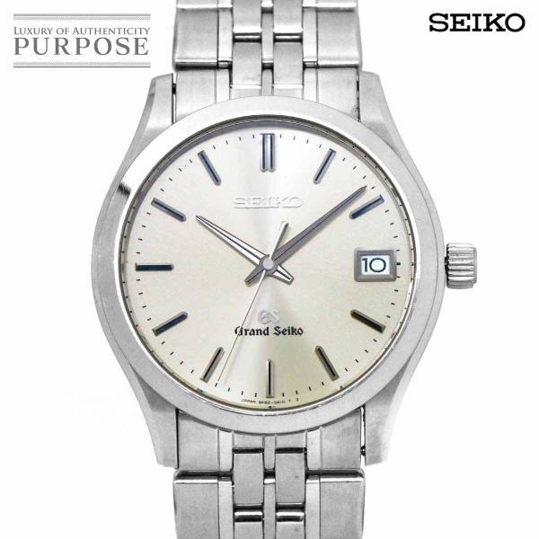 グランドセイコーGRANDSEIKOSBGV001メンズ腕時計9F820A10デイトシルバー文字盤クォーツウォッチ
