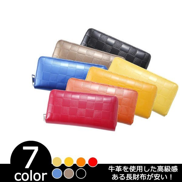 本革長財布 サイフ レザー メンズ レディース 牛革 ブランド 新品 小さい 二つ折 薄い
