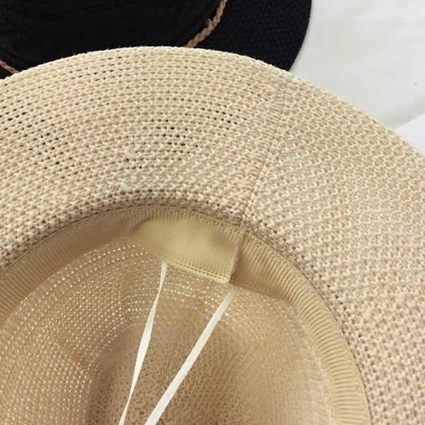 麦わら帽子 つば広 レディース おしゃれ 中折れ ストローハット 日よけ 紫外線 UV 夏 黒 白|pursuitt|03
