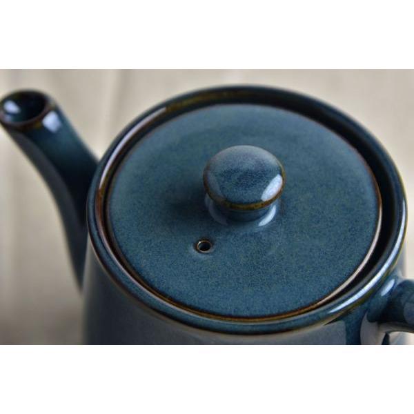 美濃焼 北欧ブルー ティーポット(ST型)  C66 H68 日本製|puticafe|04