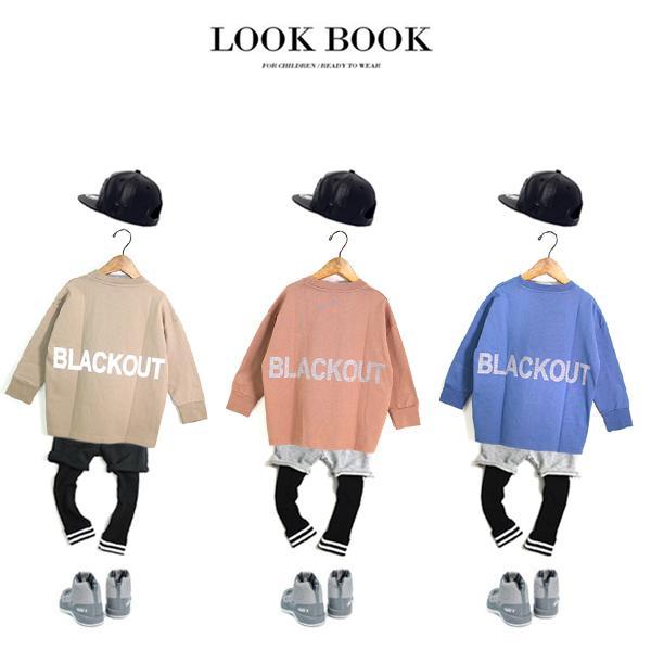子供服 キッズ ロンT USコットン100% BIGサイズ リフレクタープリント 長袖Tシャツ オーバーサイズ ルーズ ゆったり 反射プリント カットソー 男の子 女の子|putimomo|05