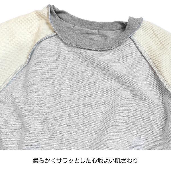 子供服 キッズ スウェット 重ね着風 ワッフル袖 トレーナー ポケット付き レイヤード 長袖Tシャツ 無地 シンプル カットソー スエット 男の子 女の子 ジュニア putimomo 13