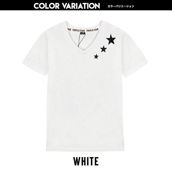 子供服 キッズ Tシャツ シューティングスター刺繍 Vネック 半袖Tシャツ 綿100% 星柄 はん袖 男の子 女の子 ジュニア 韓国こども服 韓国ファッション putimomo 05