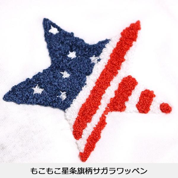 子供服 キッズ Tシャツ 星条旗 スター サガラワッペン 半袖Tシャツ 綿100% 星柄 はん袖 男の子 女の子 ジュニア 韓国こども服 韓国ファッション|putimomo|11