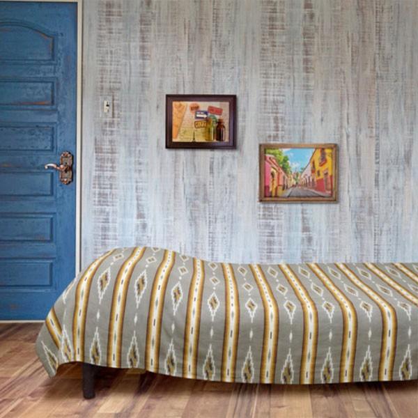 コットン オルテガ柄 ボーダー マルチクロス 145cmx225cm ベッドカバー イタワ インド綿 シーツ|pwanpwan|02