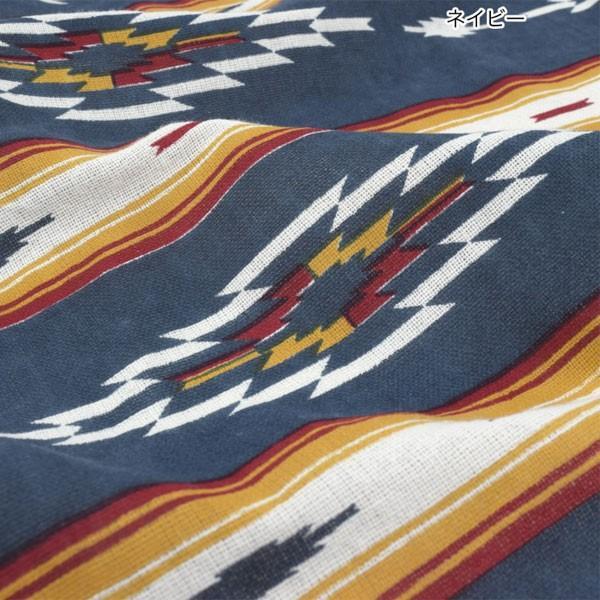 コットン オルテガ柄 ボーダー マルチクロス 145cmx225cm ベッドカバー イタワ インド綿 シーツ|pwanpwan|08