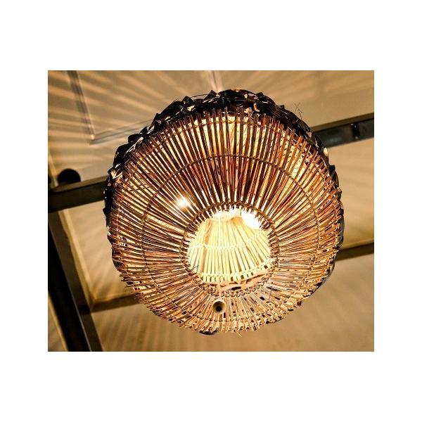 バンブーラタンランプ(ブラック) 照明 インテリア アジアン バリ 雑貨 |pworld|02