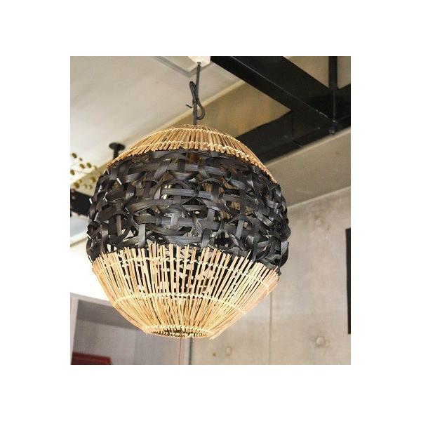 バンブーラタンランプ(ブラック) 照明 インテリア アジアン バリ 雑貨 |pworld|03