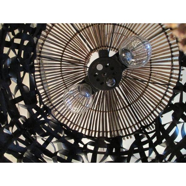 バンブーラタンランプ(ブラック) 照明 インテリア アジアン バリ 雑貨 |pworld|04