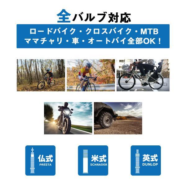PWT 自転車 空気入れ ツインヘッドクレバーバルブ搭載 ゲージ付きフロアポンプ 仏式/米式/英式対応  FP01|pwt|02